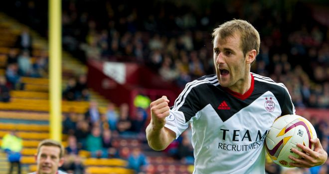 Niall McGinn: Two penalties earned Aberdeen victory