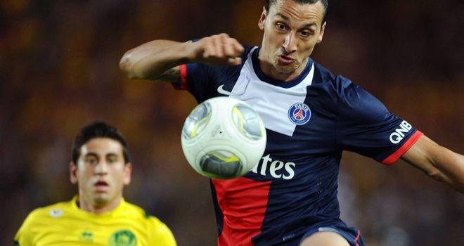 Zlatan Ibrahimovic in action