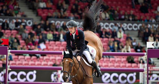 Scott Brash in action at the European Championships