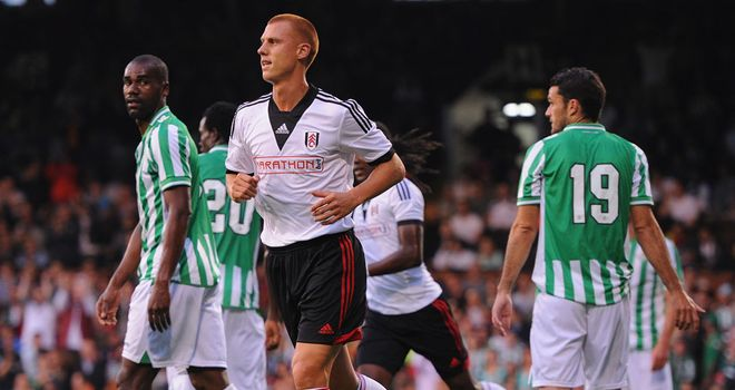 Steve Sidwell: Barely reacts after giving Fulham the lead