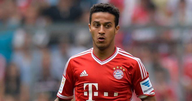 Thiago Alcantara: Bayern Munich midfielder to miss Man Utd tie
