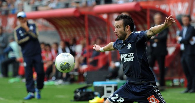 Mathieu Valbuena looks to launch an attack