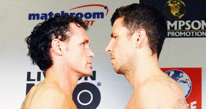 Daniel Geale and Darren Barker come face to face at their weigh in