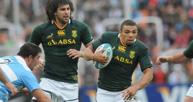 Bryan Habana: Continues on the wing for the Springboks