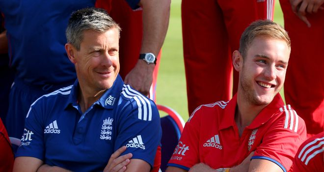 Coach Ashley Giles and captain Stuart Broad prepare for Australia challenge