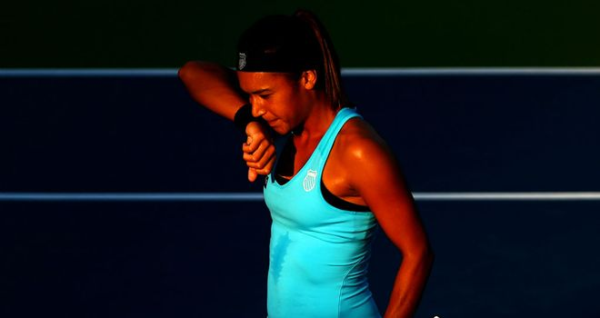 Heather Watson: Bowed out of the US Open to Simona Halep
