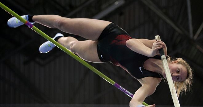 Holly Bleasdale: Joined Jiřina Svobodová of the Czech Republic in setting a world leading vault of 4.71m in Dresden