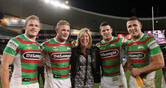The Burgess brothers (left to right) Tom, George, Luke and Sam with mum Julie