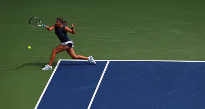 Victoria Azarenka: Saw off challenge of Vania King to reach last 16 in Cincinnati