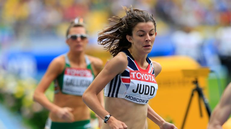 Jessica Judd of Great Britain competes in the Women's 800 metres heats during Day Six of the 14th IAAF World Athletics Championships Moscow 2013 at Luzhniki Stadium on August 15, 2013 in Moscow, Russia.