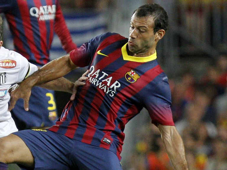 Javier Mascherano: Will miss Barcelona's CL tie with Celtic
