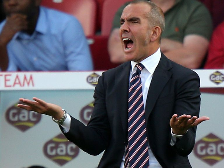 Paolo Di Canio shows his frustration.