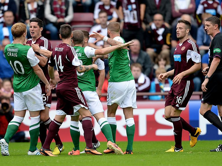 Hibernian face Hearts in the Scottish League Cup quarter-finals.