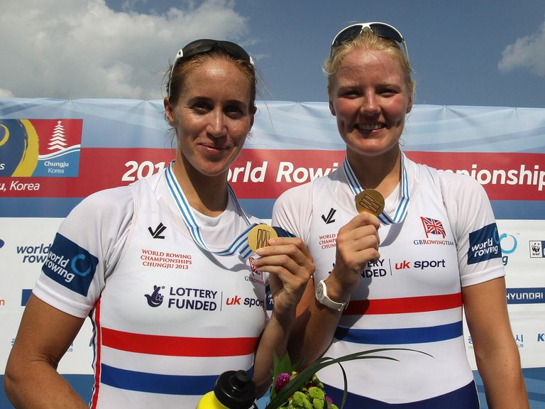 Glover and Swann struck gold in the pairs