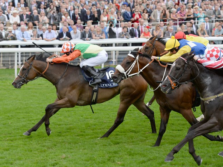 Jwala wins the Nunthorpe Stakes at York in the summer