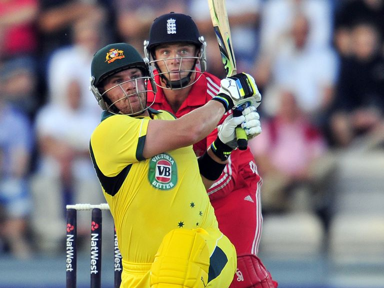 Aaron Finch took England apart at the Ageas Bowl