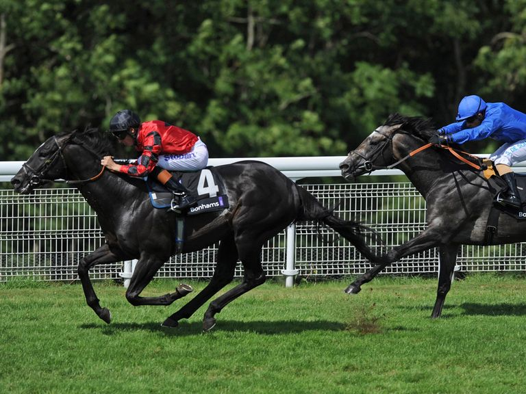 Tawhid (right): Can come home in front at Newbury
