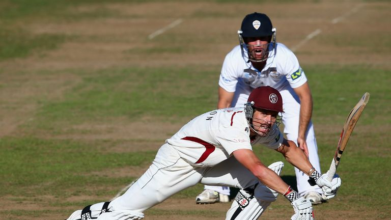 Nick Compton: Stood firm for Somerset with 64 not out
