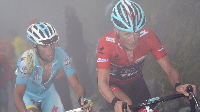 Chris Horner fought out a magnificent battle with Vincenzo Nibali