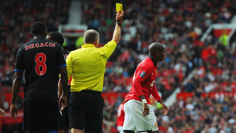 Ashley Young: Manchester United winger was booked for diving during the win over Palace
