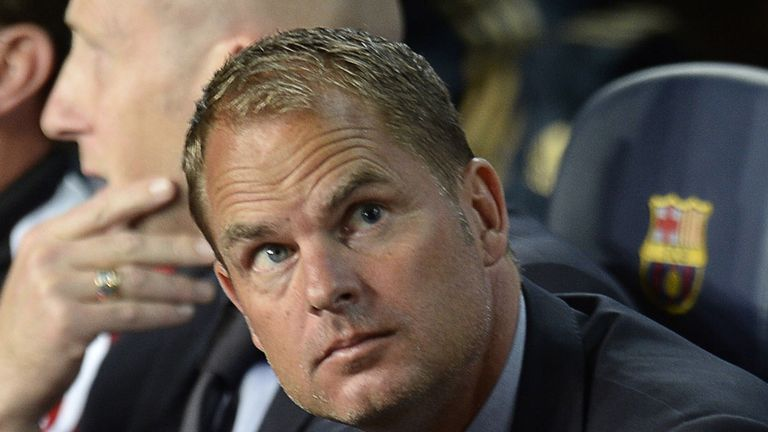 Frank de Boer: Ajax coach knows his team are under pressure