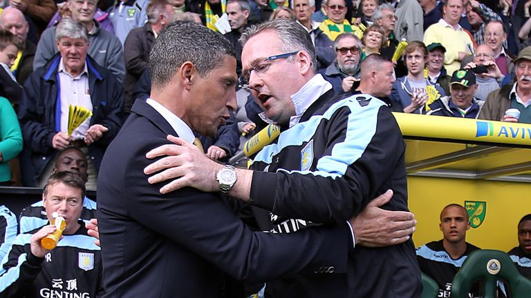 Chris Hughton says Paul Lambert is remembered fondly at Norwich