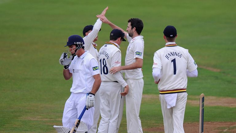 Graham Onions (centre): Returned figures of 4-62 as Durham claimed maximum bowling points