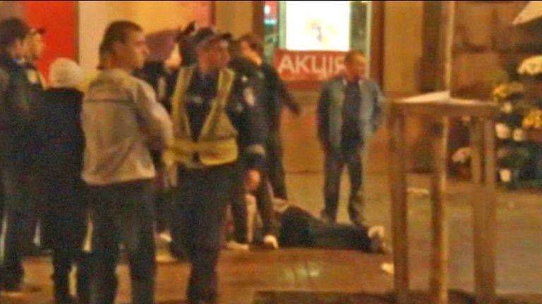 England fans: Last night's scene in Kiev