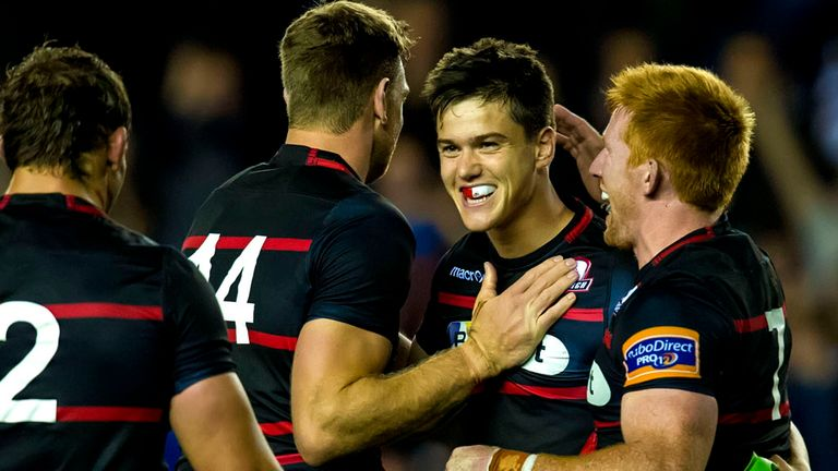 Harry Leonard: His last-gasp penalty secured victory for Edinburgh