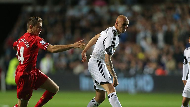 Jonjo Shelvey: Was involved in all four goals in Swansea's 2-2 draw with Liverpool