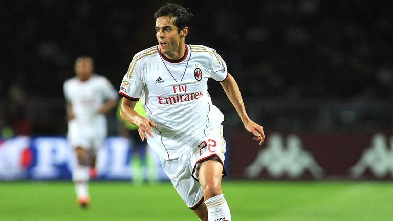 Kaka during Saturday's match against Torino when he was injured