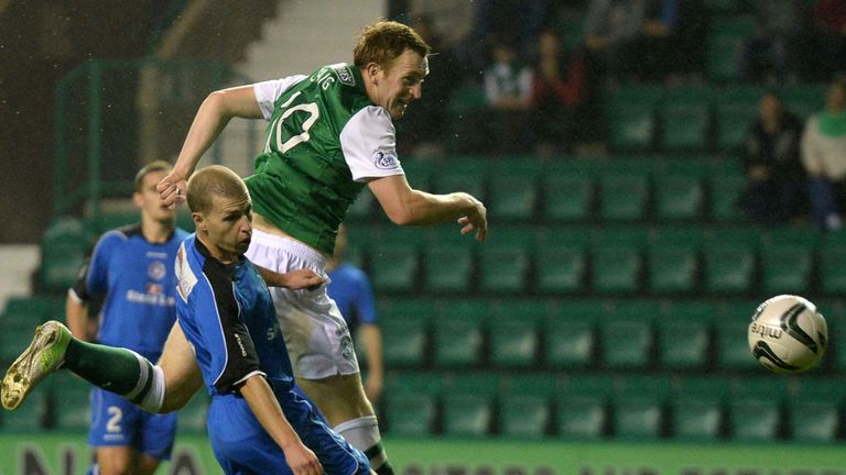 Liam Craig: Heads Hibernian level after Jamie Longworth's early opener