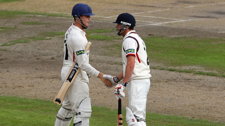 Luis Reece and Paul Horton: Scored 137 from their opening partnership