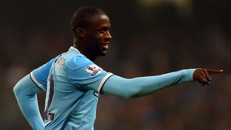 Yaya Toure: Manchester City midfielder was on target again against Wigan