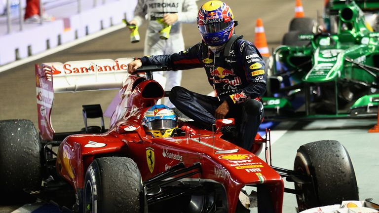 Mark Webber: Pays a hefty price for catching a lift with Alonso