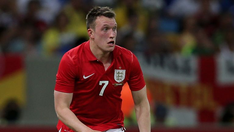 Phil Jones played the whole game for England against Brazil in June