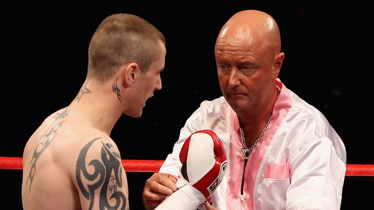 Dean Powell pictured with Ricky Burns