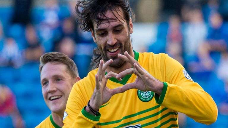 Kris Commons (l) and Georgios Samaras: Will return for Celtic in Amsterdam