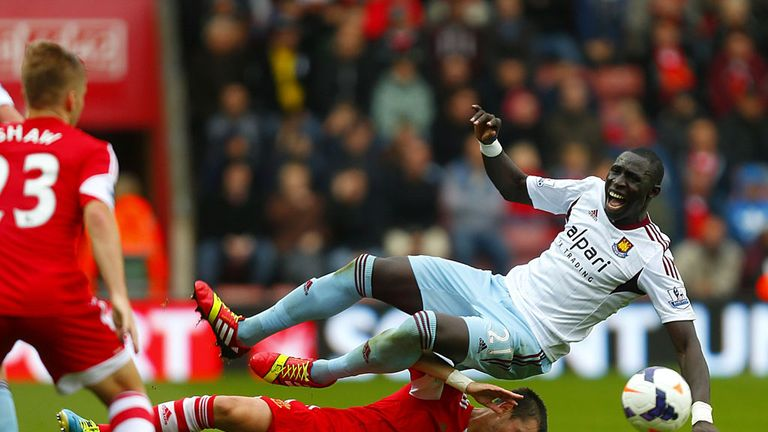 Morgan Schneiderlin: His tackle on West Ham's Mohamed Diame went unpunished