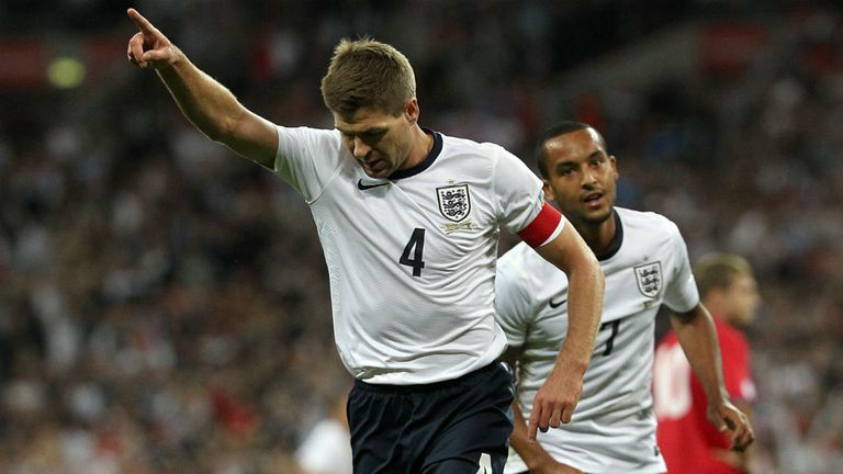 Steven Gerrard: Scored his 20th goal for England with a well-taken strike against Moldova