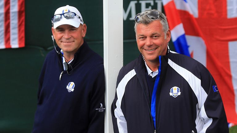 Thomas Bjorn (left): Has backing of Darren Clarke (right)
