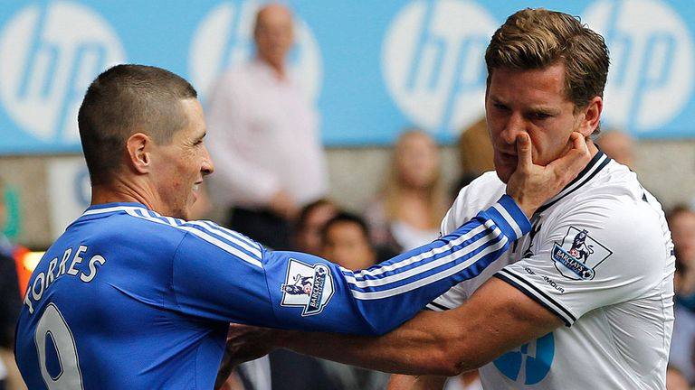 Fernando Torres: Was given a one-match ban for scratching Jan Vertonghen