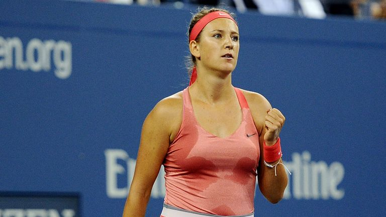 Victoria Azarenka: Second seed had her service troubles, including six double faults