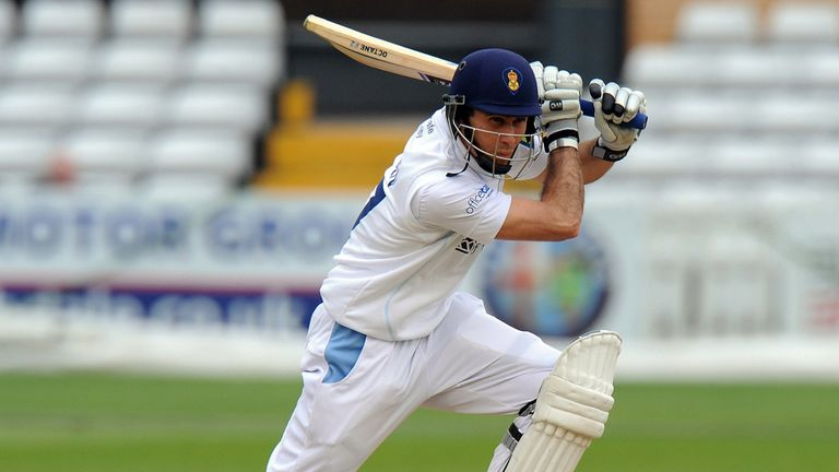 Wayne Madsen: Scored 32 not out to help Derbyshire to 99-1