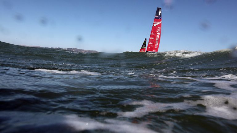 Emirates Team New Zealand: Warming up before high winds put paid to Tuesday's sailing