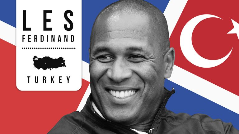 Les Ferdinand had a successful time in Turkey before breaking through in England