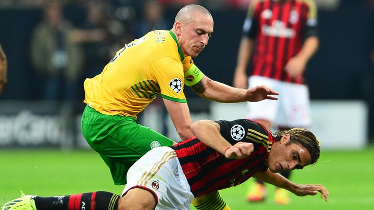 Scott Brown: The Celtic midfielder was upbeat with his side's performance despite a 2-0 defeat to AC Milan