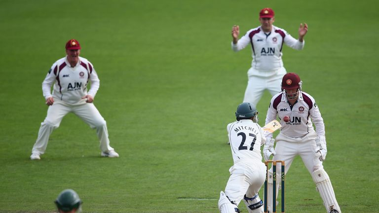 Northamptonshire secured promtion when they were in the field against Worcestershire