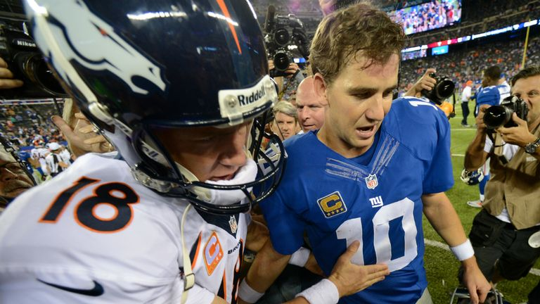 Manning Brothers: Peyton's Broncos beat Eli's Giants