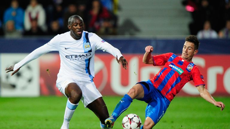 Yaya Toure: Helped Manchester City to win in Plzen with a stunning goal